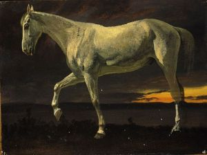 Suitable 'White Horse at sunset'